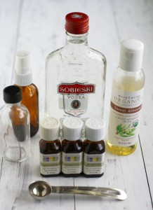 Essential oil and vodka spray