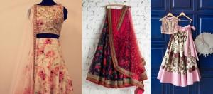 Floral prints for bridal dresses