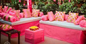 Gota linens for wedding decor