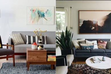 Grey Furniture for white walls