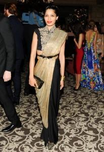 Half Half saree with belt