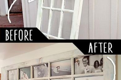 Old door Photo frame
