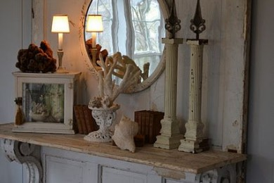Old door console table