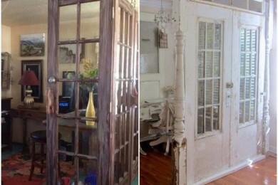Old door wall divider