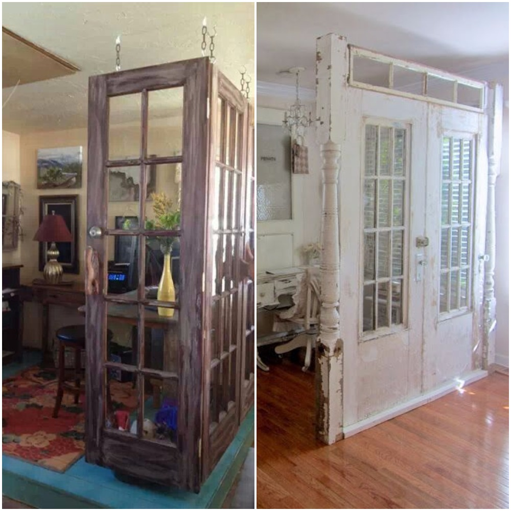 Old door wall divider