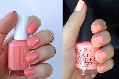 Peach nail paint for summers