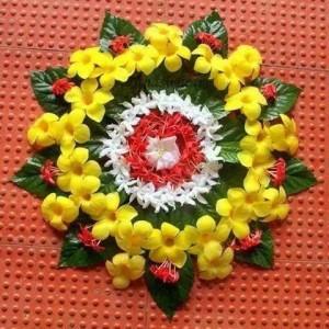 Flower Rangoli for holi