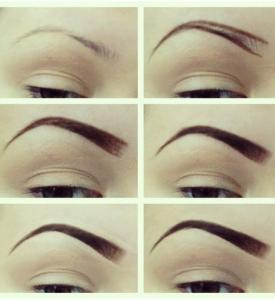 Shape the eyebrows