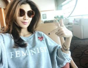 Shilpa Shetty in Slogan T-shirt