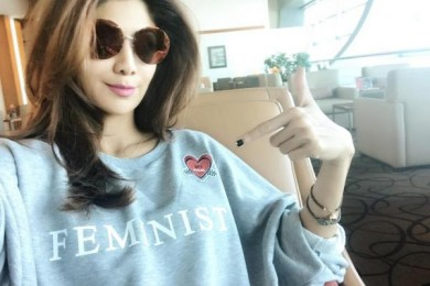 Shilpa Shetty in Slogan T-shirt