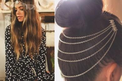 Silver hair jewlery