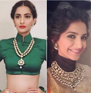 Soonam Kapoor Kundan necklaces