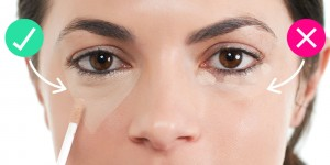 Using concealor for eyes