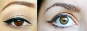 Winged stle liner for small eyes