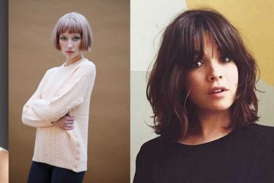 Bangs for short hairstyle