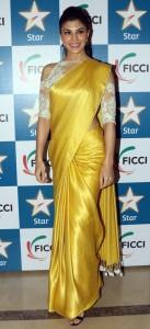 Cold Shoulder Blouse with plain saree