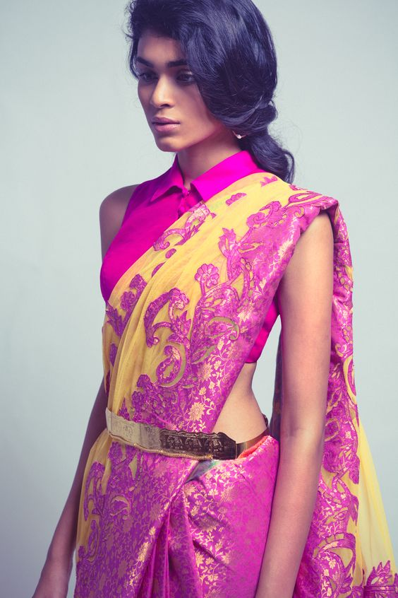 Collar blouses for saree