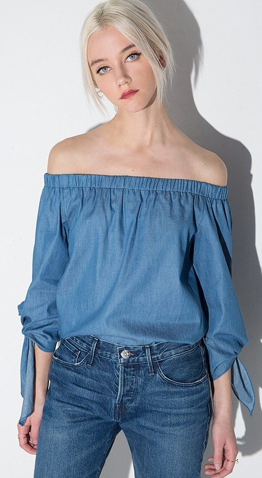DIY Off shoulder top