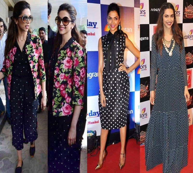 Deepika Padukone in Polka Dot dressing