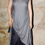 Draped dress for summers
