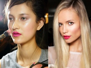 Fuschia Pink lip shade for summers