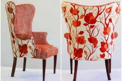 High back chairs in different prints