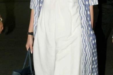 Kareena Kapoor in white kurta and cape set