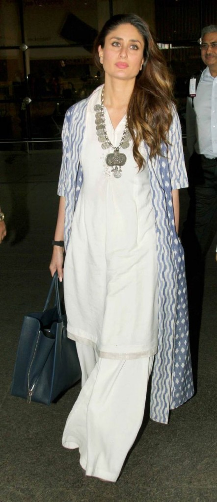 Kareena Kapoor in white kurta and cape set