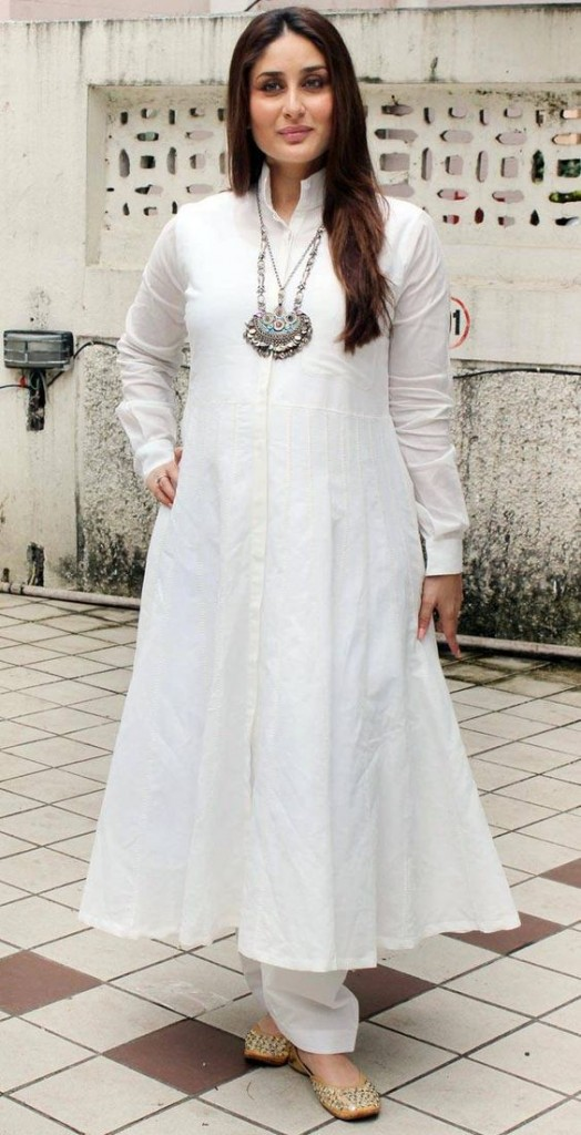 Kareena kapoor in white salwar kameez