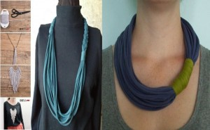 Neck piece made with an old T-shirt