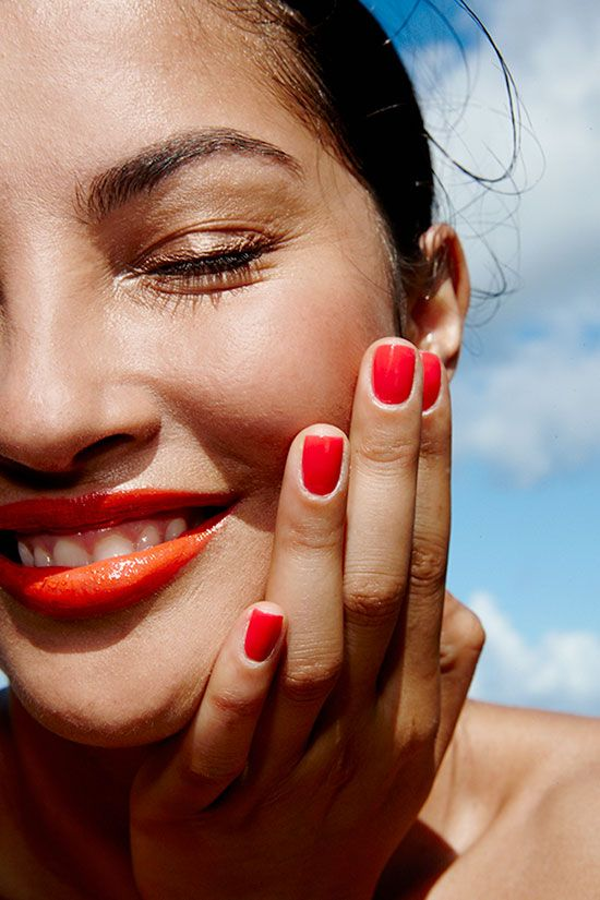 Orange lip color for summers