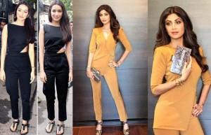 Shradhaa Kapoor and Shilpa Shetty in jumpsuits