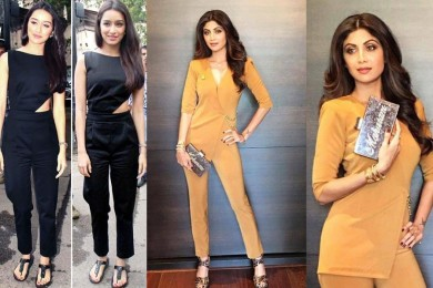 Shradhaa Kapoor and Shilpa Shetty in jumpsuits