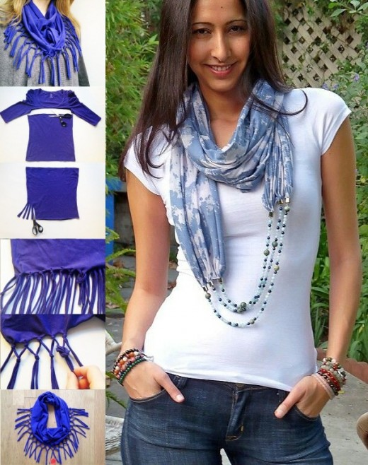Turn T-shirt into Scarf