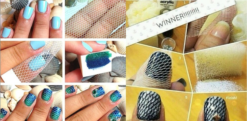 Use net for nail art