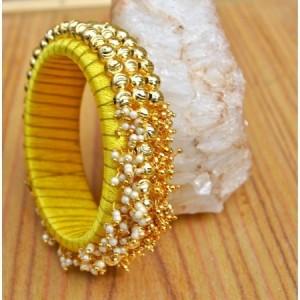 DIY Silk Bangles with pearls