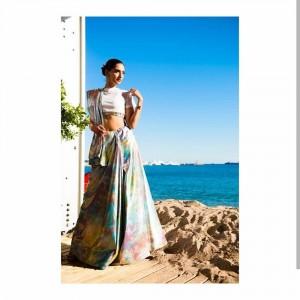 Dazzling prismatic sari