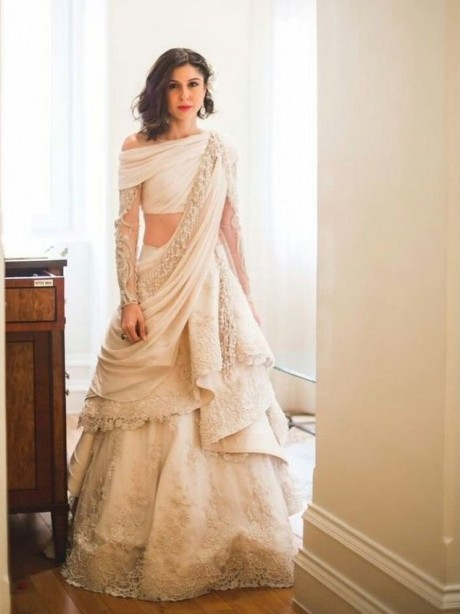 Draped gown for Indian brides