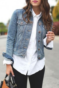 White Shirt With Jacket