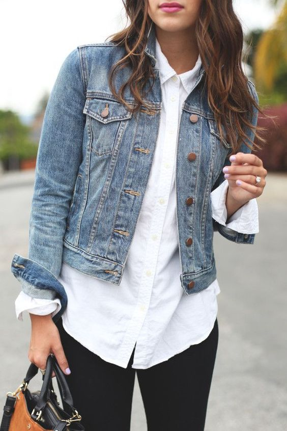 White Shirt With Jacket