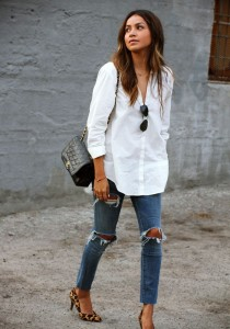 White Shirt With Jeans