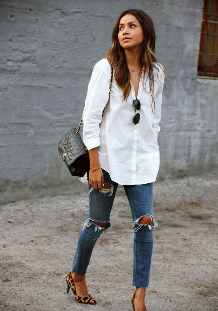 White-Shirt-With-Jeans-Threads-Werindia