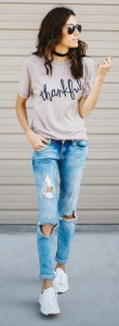 Distressed Denim styling