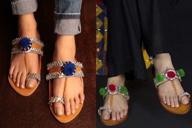 Embellished Kolhapuri Chappals