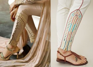 Side pannel embroidered bottoms for Indianwear