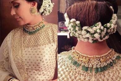 Flower Arrangement For Bridal Hairstyle