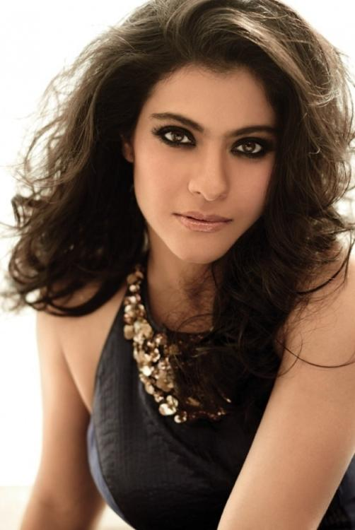 Kajol in nude makeup