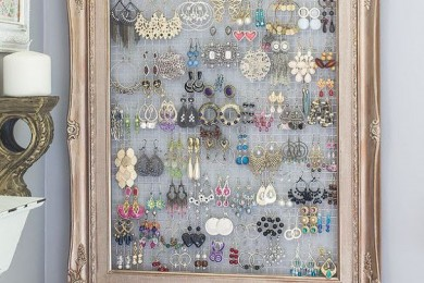 Old Photo frames for jewelry storage