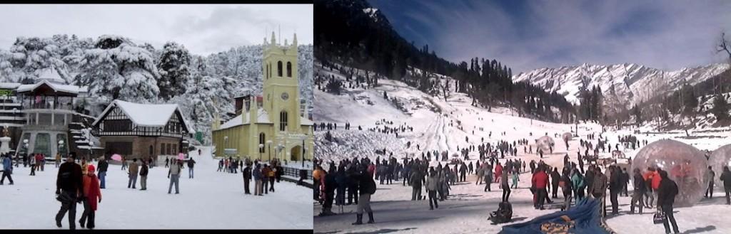 Shimla Manali Honeymoon destinations of India