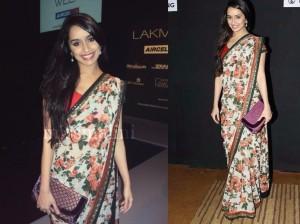 Shradha Kapoor in Floral Saree